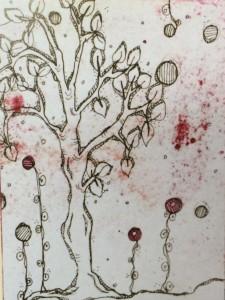 Carol Sloans tree journal page.